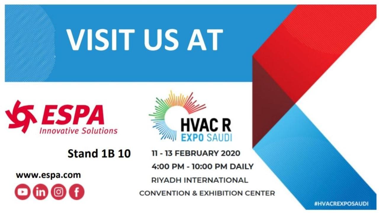 Visit us at HVAC R Expo Saudi