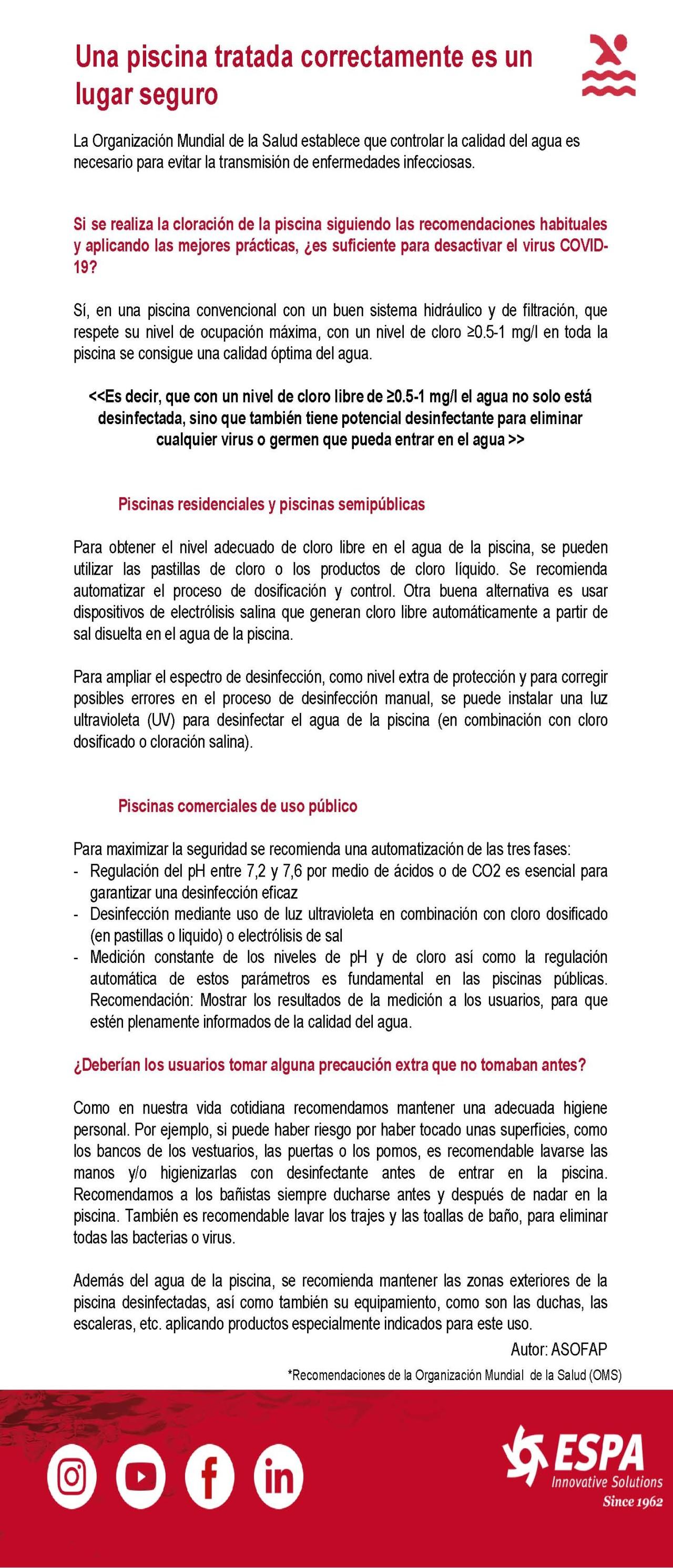 Protocolo Piscina