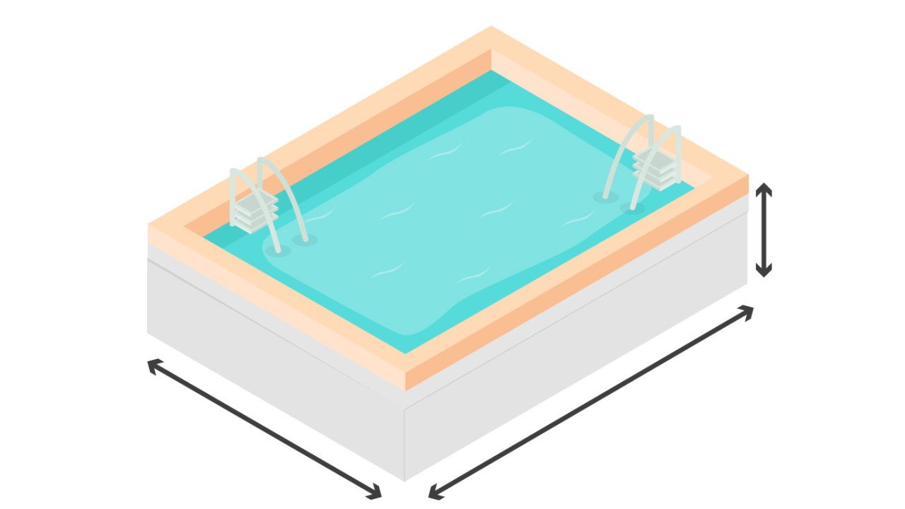 calcular volumen piscina rectangular